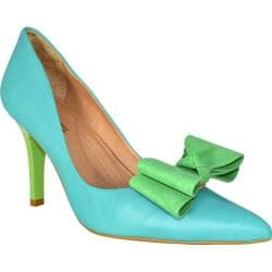 Women's Bruno Menegatti 1978714 Aqua Green Leather