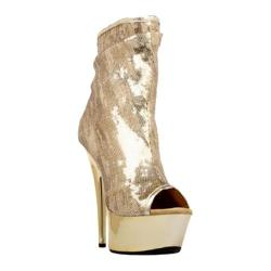 Women's Highest Heel Amber-411 Gold Sequin