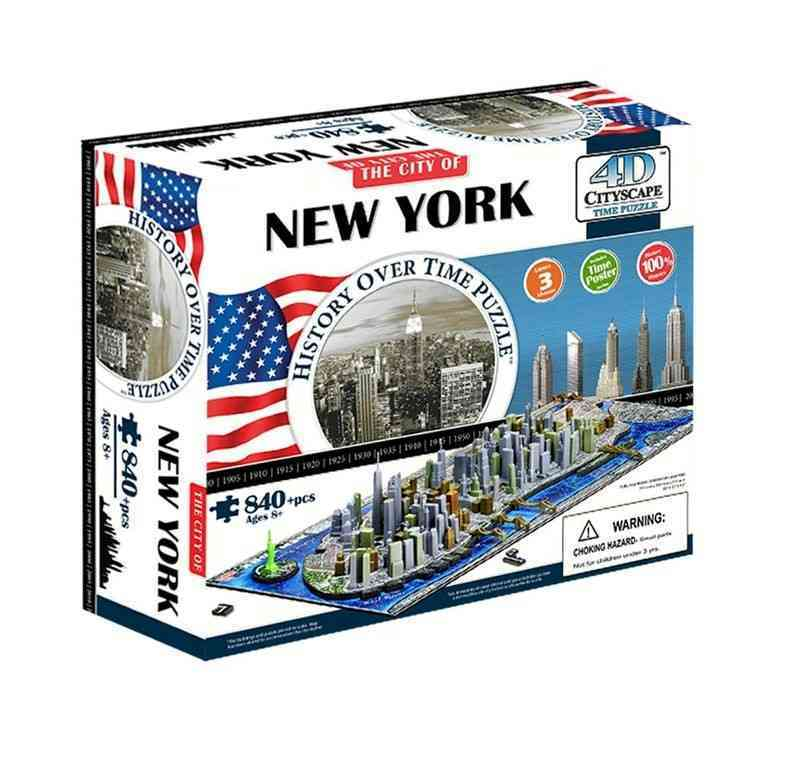 4d Cityscape New York History Time: 840 Pieces (General merchandise)