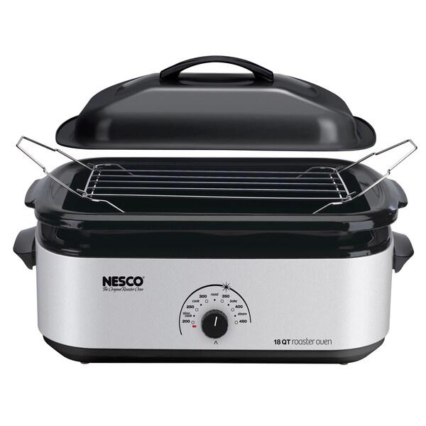 Nesco 18-quart Porcelain Cookwell Roaster Oven