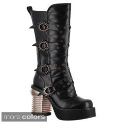 Hades Women's 'Harajuku' Thundra Leather Steampunk Boots
