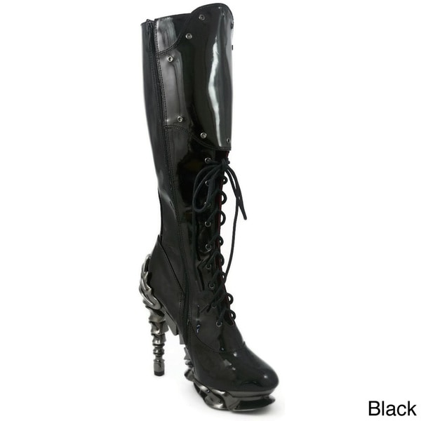 Hades Women's 'Hyperion' Patent Leather Lace-up Boots