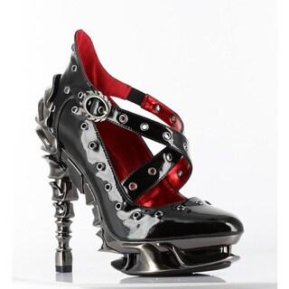 Hades Women's 'Crow' Black Patent Leather Spine Heel Pumps