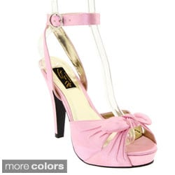 Pinup Couture Women's 'Bettie-04' Bow-capped Platform Sandals