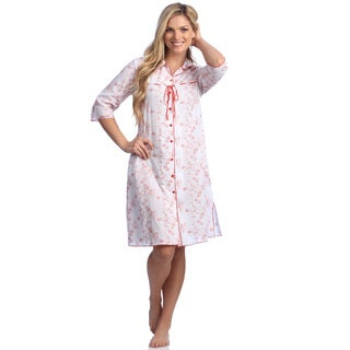 Women's Cotton Embroidered Short Robe