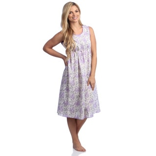 Women's Lavender Cotton Print Gown