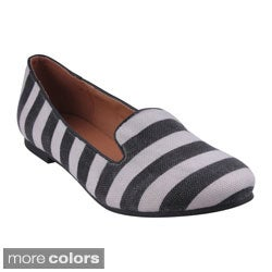 Refresh Women's 'Belin-12' Striped Slip-on Loafers