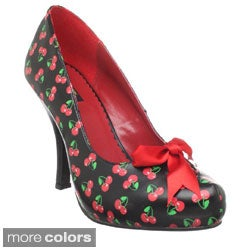 Pinup Couture Women's 'Cutiepie-06' Printed Platform Pumps