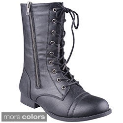 Refresh Women's 'Libby-08' Lace-up Combat Boots
