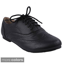 Refresh Women's 'Nikki-01' Casual Oxford Shoes