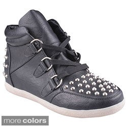Refresh Women's 'Katara-01' Studded Bootie Sneakers