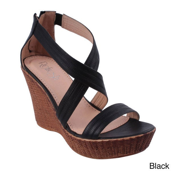 Refresh Women's 'Victoria-02' Platform Wedge Sandals
