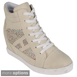 Reneeze Women's 'Dolly-01' Hidden Wedge Sneakers