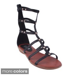 Refresh Women's 'Vegas-01' Gladiator Cuff Sandals