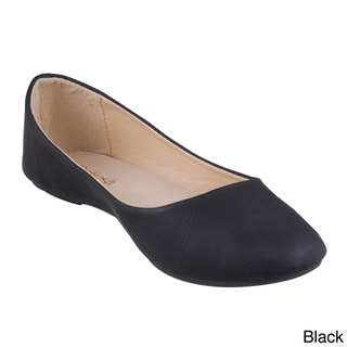 Refresh Women's 'Demi'-05' Round-toe Ballet Flats