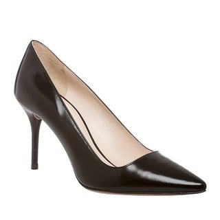Prada Women's Black Leather Pointed Toe Pumps