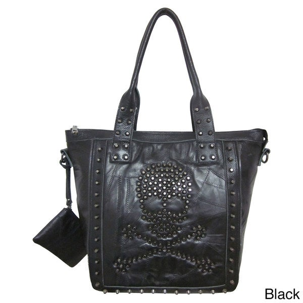 Amerileather QMetal Crossbones Hand Bag 1764-09