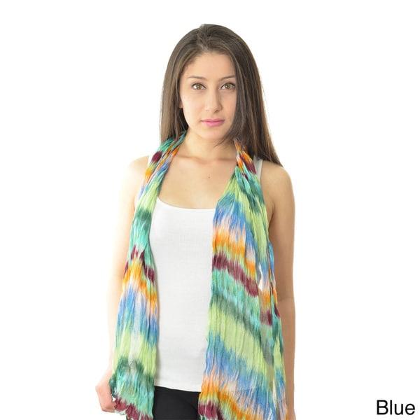 LA77 Colorful Tie-dye Scarf