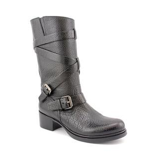 Miu Miu Women's 'Double Buckle' Leather Boots (Size 9 )