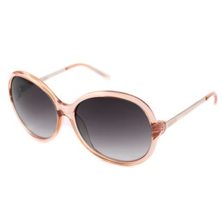 Kenneth Cole Reaction Women's KC1201 Orange/Gray Round Sunglasses