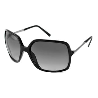 Kenneth Cole Reaction Women's KC1211 Rectangular Black Sunglasses
