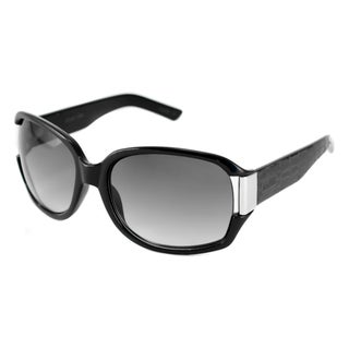 Kenneth Cole Reaction Women's KC1052 Black-and-Gray Rectangular Sunglasses