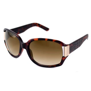 Havana-and-Brown Kenneth Cole Reaction Women's KC1052 Rectangular Sunglasses