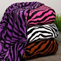 Oversized Zebra Microplush Blanket