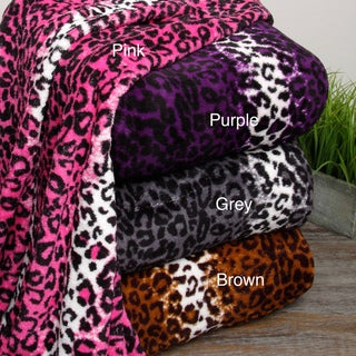 Oversized Leopard Microplush Blanket