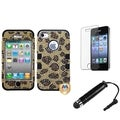 BasAcc Leopard TUFF Case/ Stylus/ LCD Protector for Apple iPhone 4/ 4S