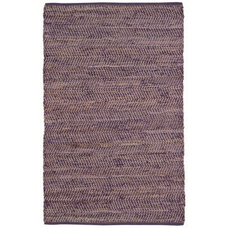 Purple Jeans Hand-woven Denim & Hemp (4' x 6')