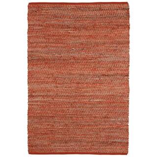 Orange Jeans Hand-woven Denim & Hemp (5' x 8')