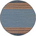 Hand-woven Matador Grey Leather Rug (6' Round)