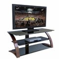 Techni Mobili Curved Frame Tempered Glass TV Media Stand
