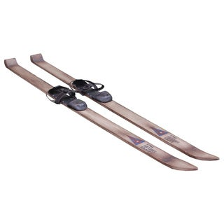Decorative Rustic Vintage Wooden Accent Skis