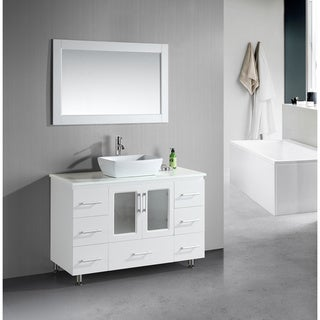 Stanton 48-Inch Single Vessel Sink White Vanity