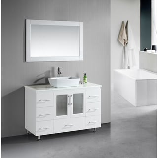 Design Element Stanton 48-Inch Single Vessel Sink White Vanity