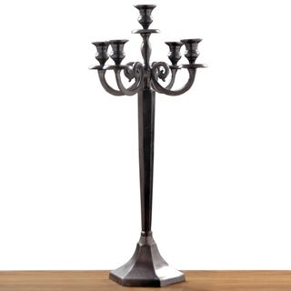 Sand-blasted Black Nickel 5-light Candelabra