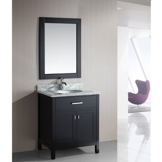 London 30-Inch Single Sink Espresso Bathroom Vanity Set