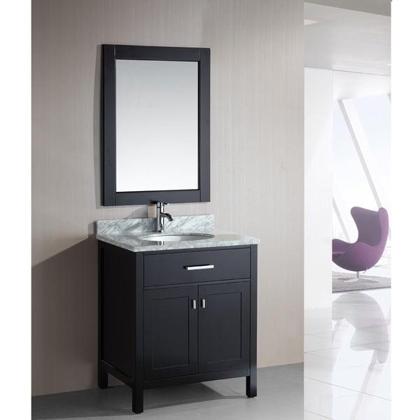 design element london 30 inch single sink espresso bathroom vanity set