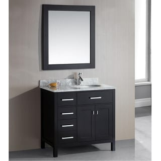 London 36-Inch Single Sink Espresso 4-Drawer Vanity Set