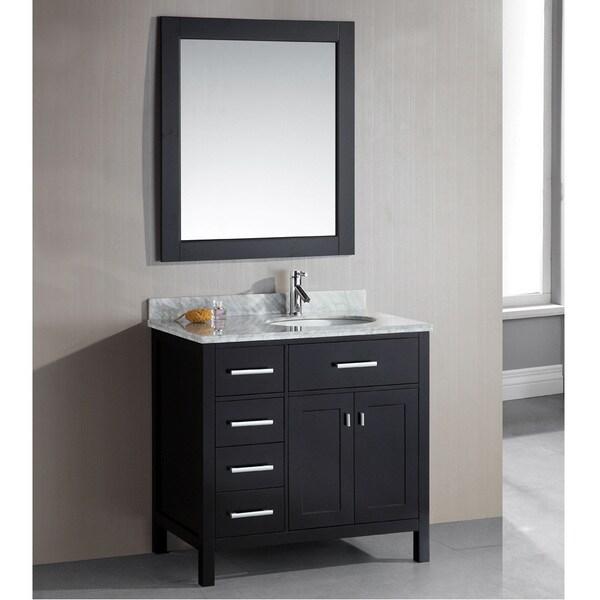 Design element london 36 inch single sink espresso 4 for Bathroom vanity packages