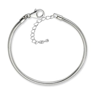 Silverplated Snake Chain Charm Bracelet