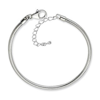 Silverplated Snake Chain Charm Bracelet