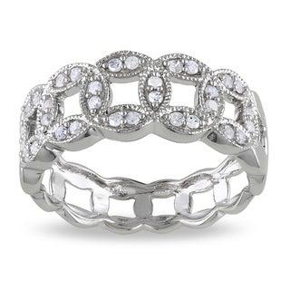 M by Miadora Sterling Silver 1/4ct TDW Link Diamond Ring (I-J, I2-I3)