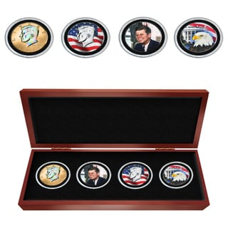 Matthew Mint JFK Colorized Four Coin Set