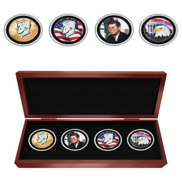 Matthew Mint JFK Colorized Four Coin Set