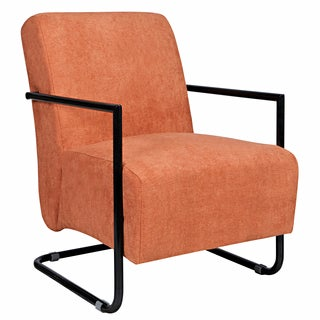 Better Living Rippa Rust Velvet Arm Chair with Black Frame