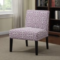 Portfolio Niles Amethyst Purple Greek Key Armless Accent Chair