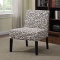 Portfolio Niles Brown Greek Key Armless Accent Chair
